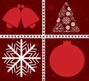 Новый Год рождественской открытки счастливый Стоковое Изображение