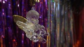 Новый Год Состав рождества мандаринов, ветвей рождественской елки и ангела Стоковая Фотография RF