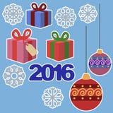 новый год стикеров Стоковое Изображение