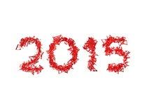 Новый Год 2015 сделал от примечаний Стоковые Изображения
