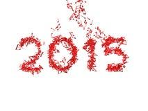 Новый Год 2015 сделал от примечаний Стоковая Фотография RF