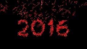 Новый Год 2016 сделал от примечаний Стоковая Фотография RF