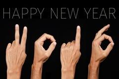 Новый Год 2016 текста счастливый Стоковые Изображения
