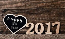 Новый Год 2017 текста счастливый Стоковое Изображение