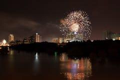 Новый Год феиэрверка Стоковая Фотография RF