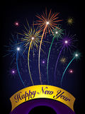 Новый Год феиэрверков счастливое Стоковое Изображение