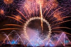 Новый Год феиэрверков Стоковая Фотография