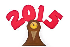 Новый Год 2015, часы Стоковое Изображение RF
