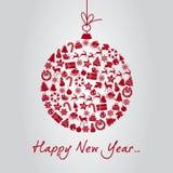 Новый Год шарика Стоковое Изображение RF