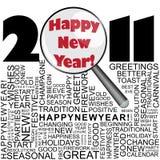 Новый Год 2011 принципиальной схемы счастливое Стоковые Изображения RF