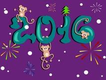 Новый Год 2016 Стоковые Изображения RF