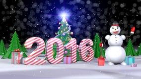 Новый Год 2016 Стоковое Изображение RF
