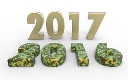 Новый Год 2017 Стоковые Фотографии RF