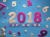 Новый Год 2018 иллюстрация штока