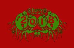 Новый Год 2018 Стоковое Изображение