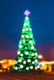 Новый Год Boke освещает рождественскую елку Xmas и стоковые изображения rf