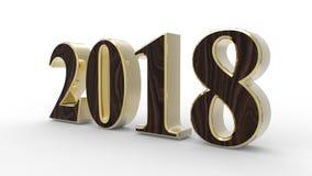 Новый Год 2018 3d иллюстрация вектора