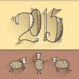 Новый Год Doodle Стоковые Изображения RF