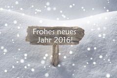 Новый Год Frohes Neues снежинок знака средний счастливый Стоковые Фото
