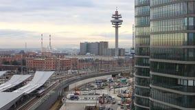 Новый главным образом железнодорожный вокзал вены - Австрии видеоматериал
