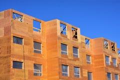 Новый деревянный com квартиры рамки; lex стоковое изображение