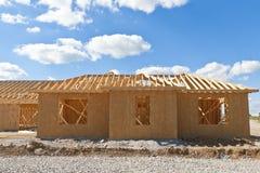 Новый дом под конструкцией. стоковая фотография rf