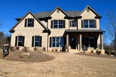 Новый дом, Watkinsville, Georgia стоковое фото rf