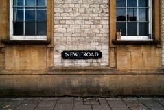 Новый дорожный знак в Оксфорд стоковая фотография rf