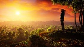 Новый день подъемов надежды иллюстрация штока