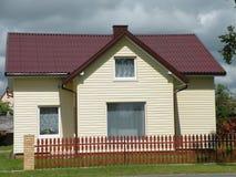 Новый желтый дом Стоковые Изображения RF