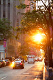 новый заход солнца york стоковые изображения