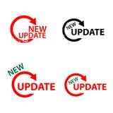 Новый знак обновления Стоковые Изображения RF