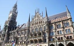 Новый здание муниципалитет в Мюнхене Стоковое Фото
