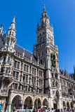 Новый здание муниципалитет Мюнхена на Marienplatz, Германии, 2015 Стоковые Изображения RF