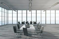 Новый интерьер конференц-зала бесплатная иллюстрация