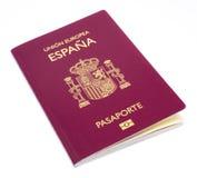 Новый испанский пасспорт, светлая коробка стоковое изображение rf