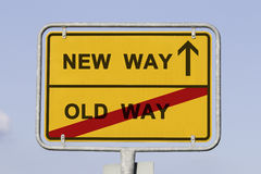 Новый и старый путь Стоковое Фото