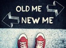 Новый и старый я дилемма Стоковые Фото