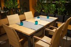 Новый и чистый роскошный ресторан в европейском стиле Стоковые Изображения