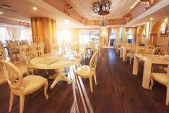Новый и чистый роскошный ресторан в европейском стиле Amara роскошная гостиница Dolce Vita курорт Tekirova-Kemer Стоковые Фото