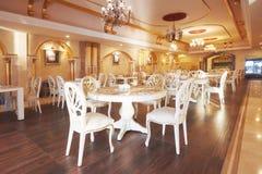 Новый и чистый роскошный ресторан в европейском стиле Amara роскошная гостиница Dolce Vita курорт Tekirova-Kemer Стоковое Изображение RF