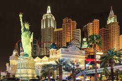 Новый Йорк-новый Йорк - в Вегас Стоковые Изображения RF