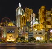 Новый Йорк-новый Йорк расположенный на прокладке Лас-Вегас показан в Las Стоковые Фотографии RF