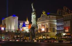 Новый Йорк-новый Йорк расположенный на прокладке Лас-Вегас показан в Las Стоковые Изображения RF