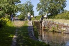 Новый канал Llangollen замка верхней части marton Стоковое Изображение RF