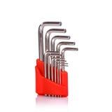 Новый, который 6-встали на сторону ключ beeing разъемы принципиальной схемы фокусируют изолированную белизну технологии съемки ок Стоковые Фотографии RF