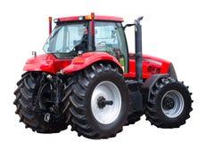 новый красный трактор Стоковое Фото