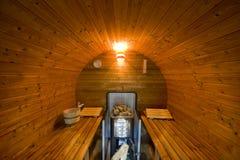 новый круглый sauna Стоковое фото RF