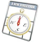 Новый курс изменения компаса направления водит к успеху Стоковые Изображения RF