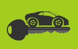 Новый ключ автомобиля Стоковые Изображения RF